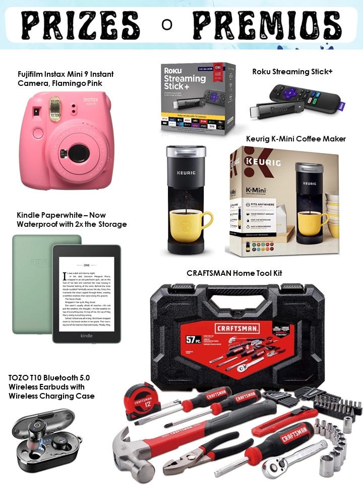 Fujifilm Instax Mini 9 Instant Camera, Flamingo Pink • Roku Streaming Stick+ • Keurig K-Mini Coffee Maker • Kindle Paperwhite – Now Waterproof with 2x the Storage • CRAFTSMAN Home Tool Kit • TOZO T10 Bluetooth 5.0 Wireless Earbuds with Wireless Charging C