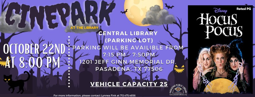 CinePark at the Library -  Hocus Pocus!