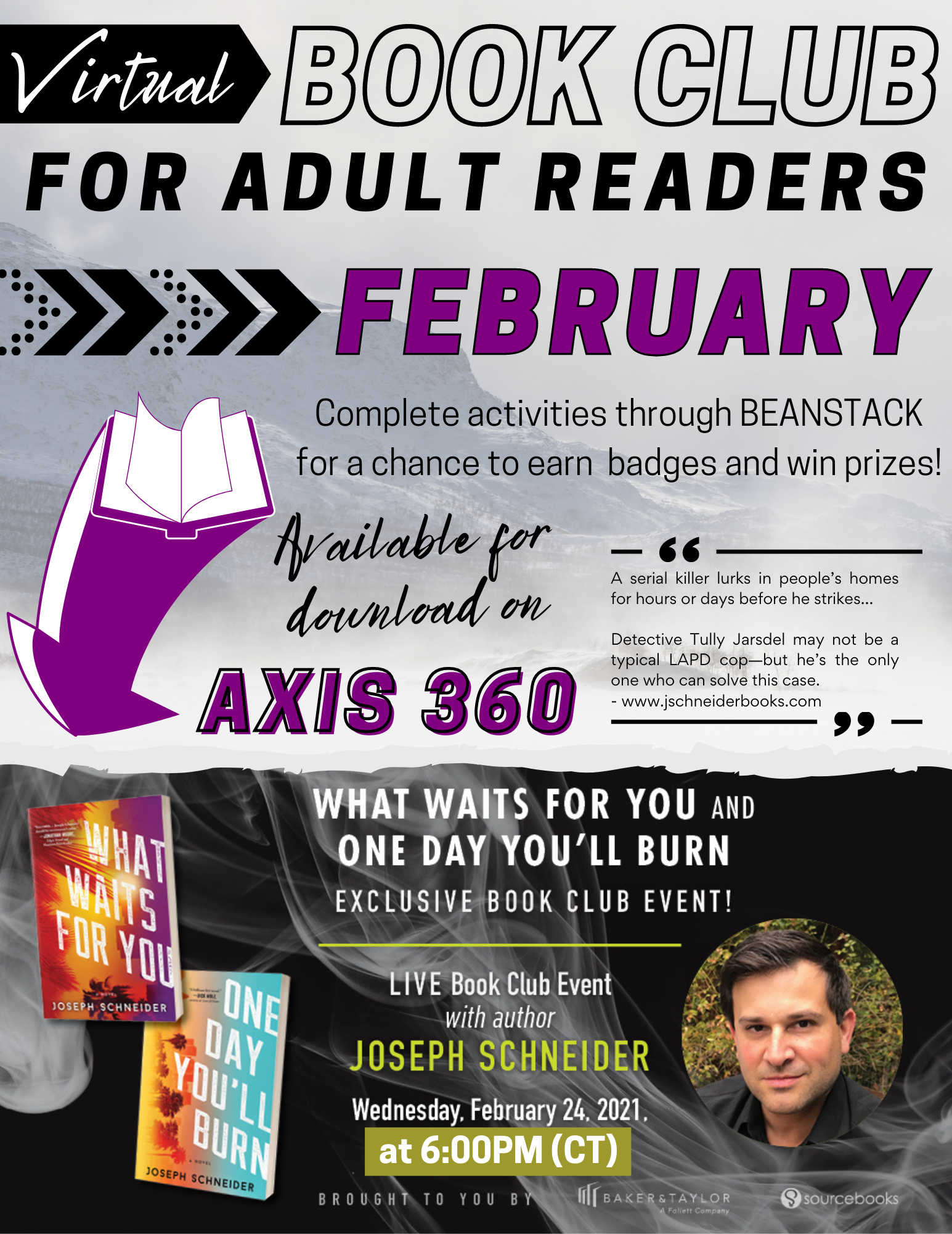Don't miss February's Virtual Book Club for Adult Readers,