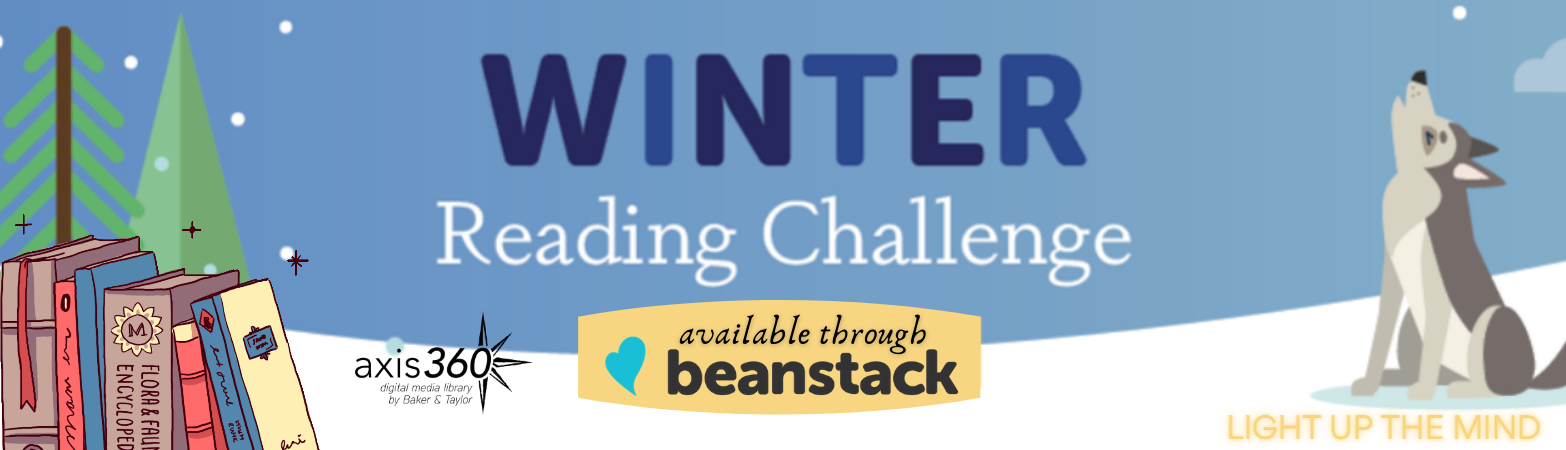 Welcome to Pasadena Library's first Winter Reading Challenge! We challenge you to read at least 360 minutes during the month of January and track that time here in Beanstack. Share your progress on social media using #WinterRead2021!
